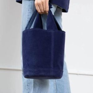 NWT Anthropologie Donni Ciao Bucket Bag Navy